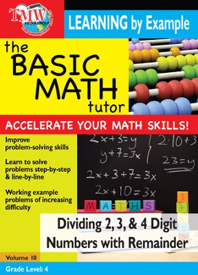 Basic Math Tutor: Dividing 2,3, & 4 Digit Numbers With Remainder DVD  -