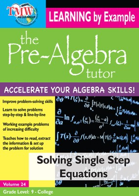 Solving Single Step Equations DVD  -