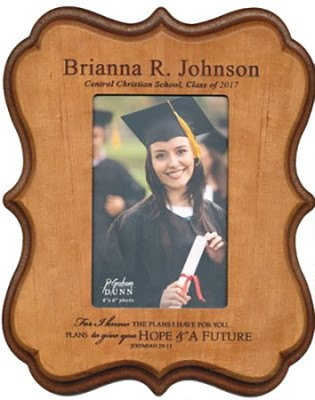 Personalized, Graduation Photo Frame, Cherry   -