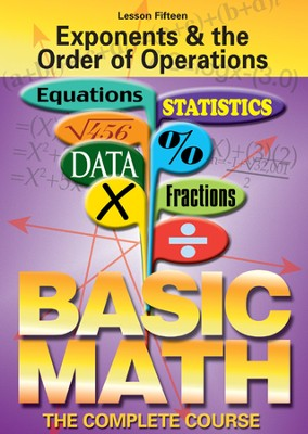 Basic Math Series: Exponents & the Order of Operations DVD  -
