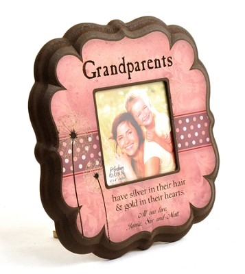 Personalized, Grandparents 4X4 Photo Frame, Pink   -