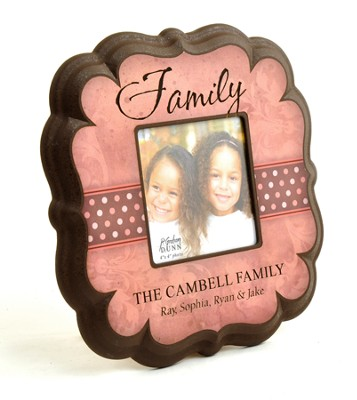 Personalized, Family 4X4 Photo Frame, Pink   -