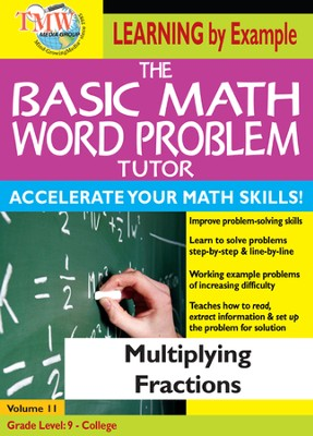 Basic Math Word Problem Tutor: Multiplying Fractions DVD  -