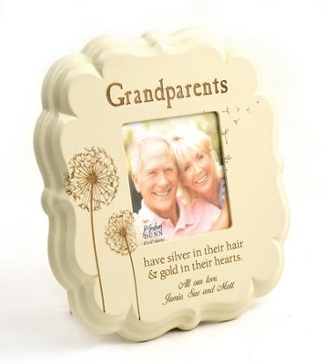 Personalized, Grandparents 4X4 Photo Frame, White   -