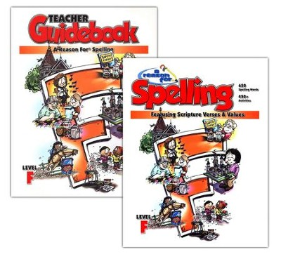 A Reason for Spelling, Level F, Teacher Guidebook and Student Worktext  -