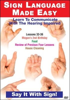 Sign Language Series Lessons 33-36: Birthdays, Food Cleaning DVD  -