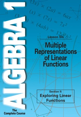 Algebra 1 - The Complete Course: Multiple Representations of Linear Functions DVD  -