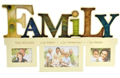 Personalized, Live Love Care, Photo Frame, Family   -