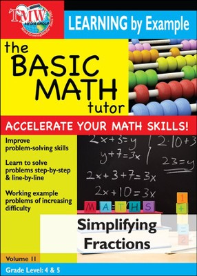 Basic Math Tutor: Simplifying Fractions DVD  -