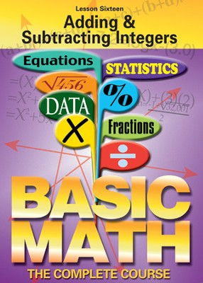 Basic Math Series: Adding & Subtracting Integers DVD  -