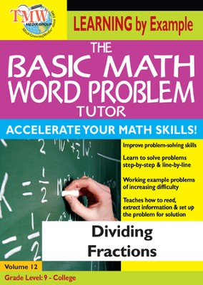 Basic Math Word Problem Tutor: Dividing Fractions DVD  -