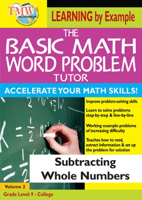 Basic Math Word Problem Tutor: Subtracting Whole Numbers DVD  -