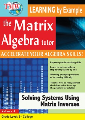 Solving Systems Using Matrix Inverses DVD  -