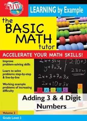 Basic Math Tutor: Adding 3 & 4 Digit Numbers DVD  -