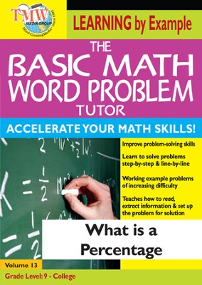 Basic Math Word Problem Tutor: What Is a Percentage DVD  -