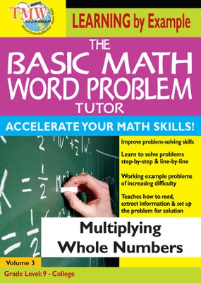 Basic Math Word Problem Tutor: Multiplying Whole Numbers DVD  -
