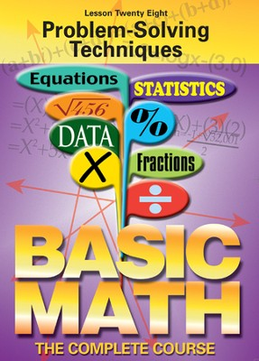 Basic Math Series: Problem-Solving Techniques DVD  -