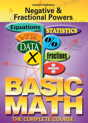 Basic Math Series: Negative & Fractional Powers DVD  -