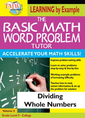 Basic Math Word Problem Tutor: Dividing Whole Numbers DVD  -