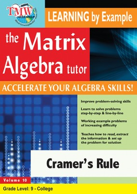 Cramer's Rule DVD  -