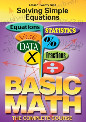 Basic Math Series: Solving Simple Equations DVD  -