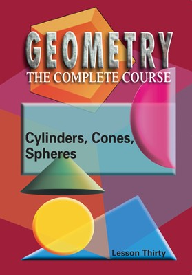Geometry - The Complete Course: Cylinders, Cones & Spheres DVD  -
