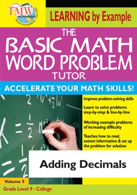 Basic Math Word Problem Tutor: Adding Decimals DVD  -