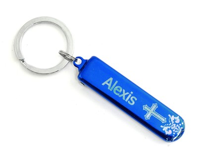 Personalized, Blue Nail Clipper, With Cross   -