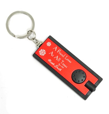 Personalized, Red Flashlight, Friends Love At All Times  -