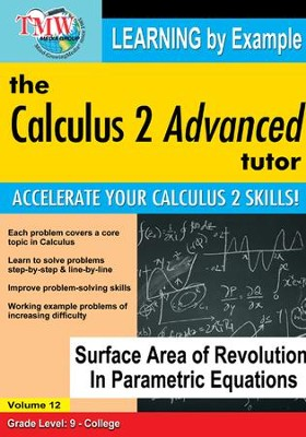 Surface Area of Revolution In Parametric Equations DVD  -