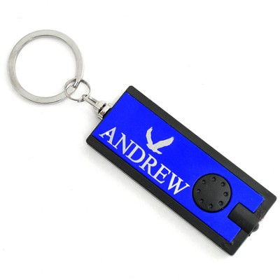 Personalized, Blue Flashlight, With Eagle   -