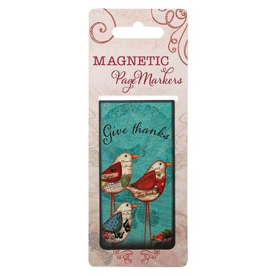 Give Thanks To the Lord Magnetic Bookmark, Large  -