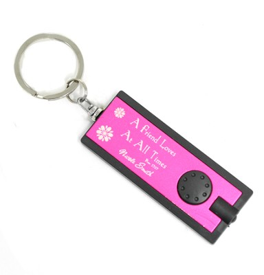 Personalized, Pink Flashlight, Friends Love At All Times  -