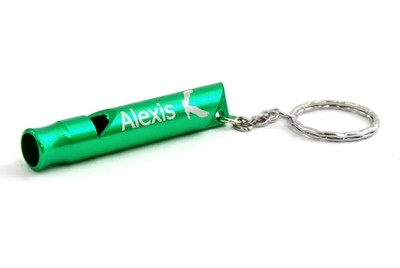 Personalized, Green Whistle Keyring, With Eagle   -