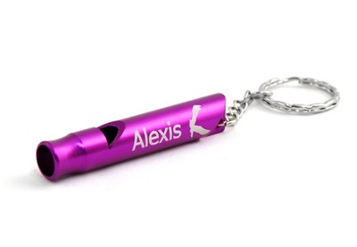 Personalized, Purple Whistle Keyring, With Eagle   -