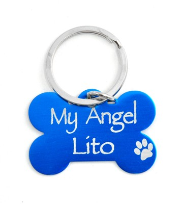 Personalized, Dog Tag, My Angel, Blue    -