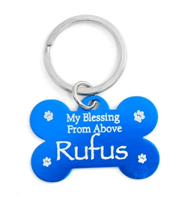 Personalized, Dog Tag, My Blessing From Above, Blue    -