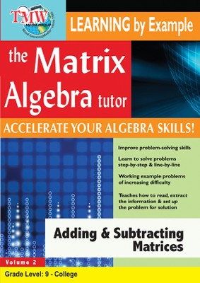 Adding & Subtracting Matrices DVD  -