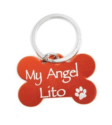 Personalized, Dog Tag, My Angel, Red    -