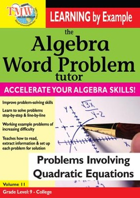 Algebra Word Problem: Problems Involving Quadratic Equations DVD  -