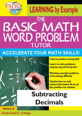Basic Math Word Problem Tutor: Subtracting Decimals DVD  -