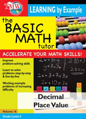 Basic Math Tutor: Decimal Place Value DVD  -