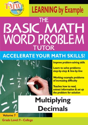 Basic Math Word Problem Tutor: Multiplying Decimals DVD  -