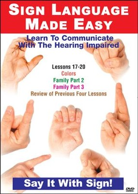 Sign Language Series Lessons 17-20: Colors, Sports & Family DVD  -