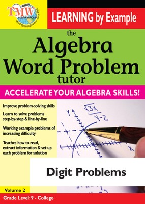 Algebra Word Problem: Digit Problems DVD  -