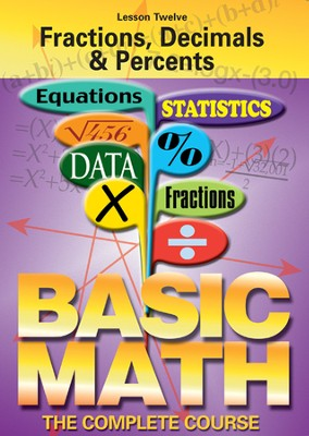 Basic Math Series: Fractions, Decimals & Percents DVD  -