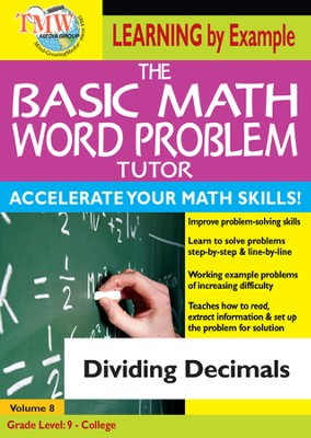 Basic Math Word Problem Tutor: Dividing Decimals DVD  -