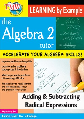 Algebra 2 Tutor: Adding & Subtracting Radical Expressions DVD  -