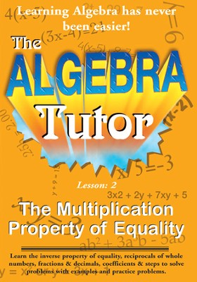 Algebra Math Tutor: Multiplication DVD  -