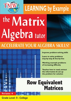 Row Equivalent Matrices DVD  -